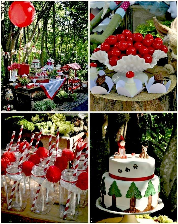 Little Red Riding Hood Birthday Party with So MANY Cute IDEAS via Kara's Party Ideas | Kara'sPartyIdeas #LittleRedRidingCap #RedRidingHood #...