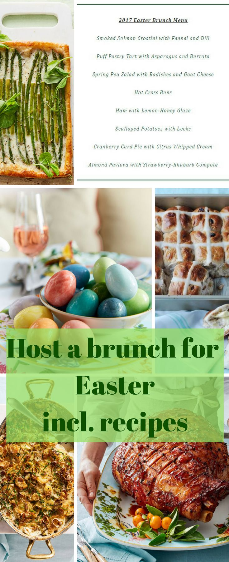 There's no way to celebrate Easter—and the arrival of spring after a lengthy winter—than with a verdant midday meal. This one, developed by the cooks in the Williams Sonoma Test Kitchen, is filled with fresh twists on Easter favorites, like ham, scalloped potatoes and spring peas. #Brunch #recipes #family #Easter #affiliate
