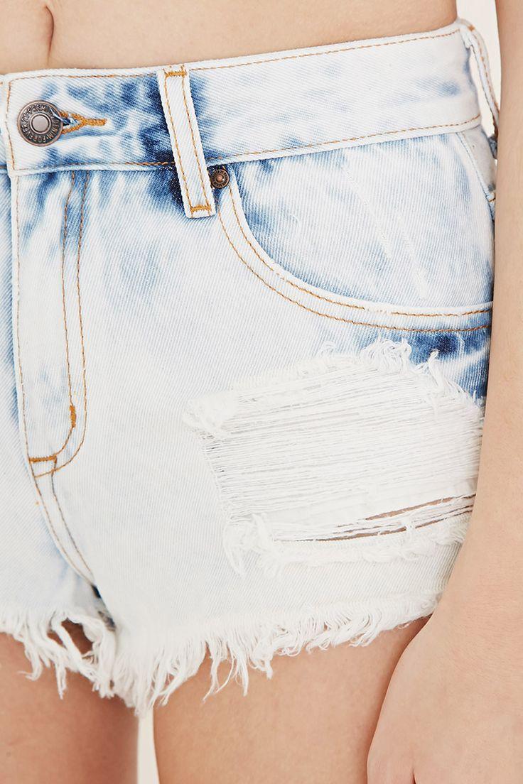 Shorts de mezclilla rasgados - Rebajas - 2000185754 - Forever 21 EU Español