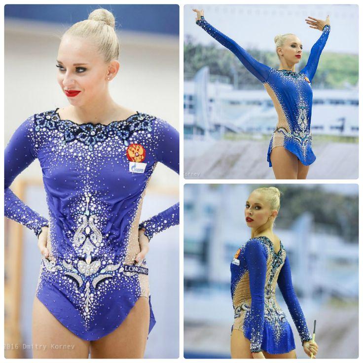 Rhythmic gymnastics #leotard : Yana Kudryavtseva (Russia), ribbon 2016 (photos by Dmitry Kornev)