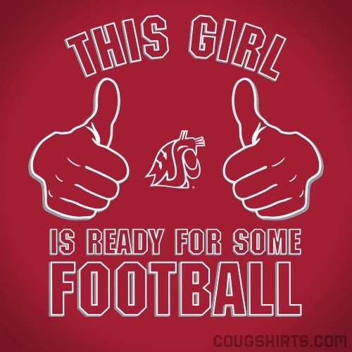 This Girl is Ready for WSU Football T-Shirt #WSU #GoCougs #Wazzu $13.99