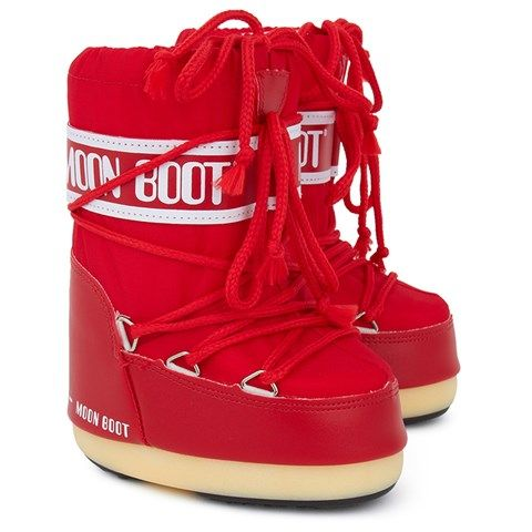 Red Nylon Moon Boots