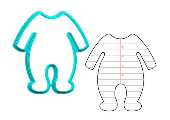 Baby Footie Pajamas Cookie Cutter Etsy In 2021 Baby Footie Pajamas Baby Footies Footie Pajama