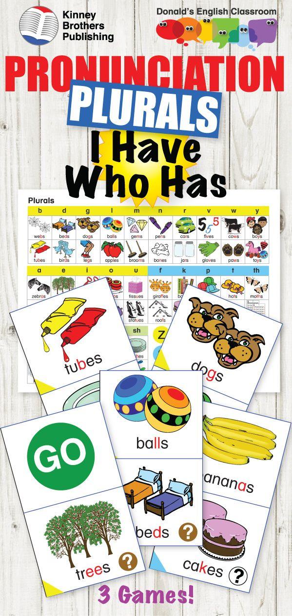 ESL Pronunciation I Have Who Has - Plurals | ESL EFL ELL