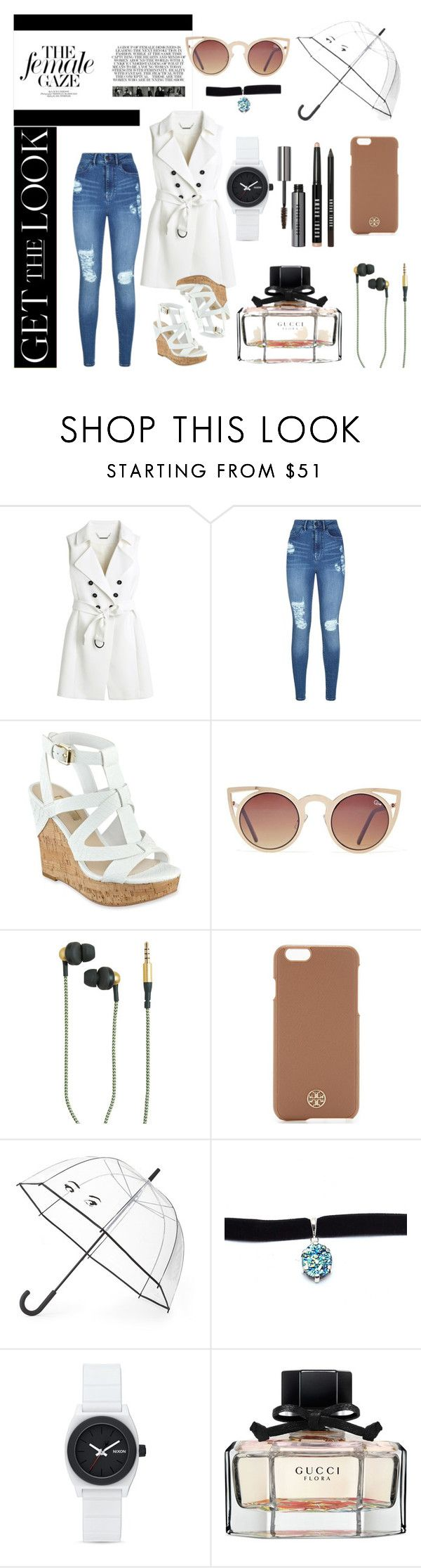 """Price tags doesn't matter"" by blackheaven on Polyvore featuring White House Black Market, Lipsy, GUESS, Quay, Kreafunk, Tory Burch, Kate Spade, Child Of Wild, Nixon and Gucci"