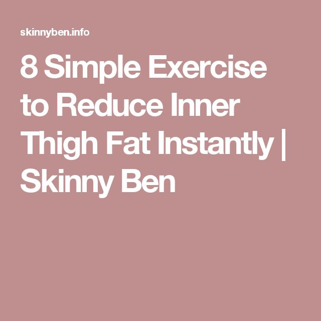 8 Simple Exercise to Reduce Inner Thigh Fat Instantly   Skinny Ben