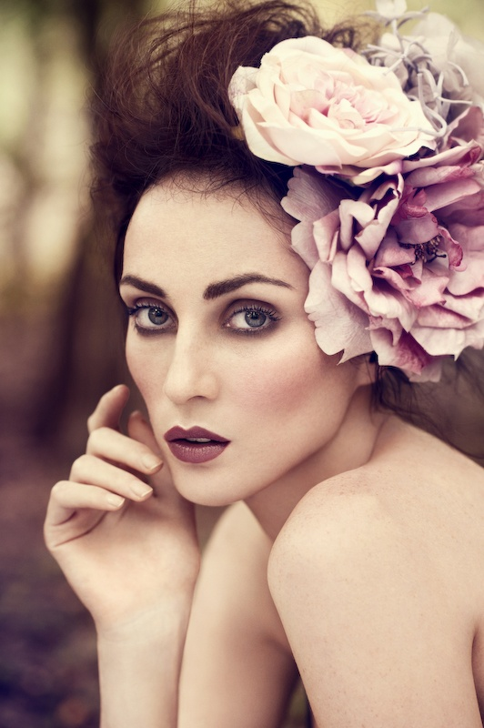 Love the makeup and the flowers in the hair!