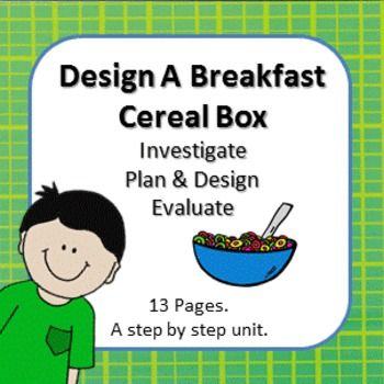 Design a cereal box step by step process with cereal box for Design your own cereal box template