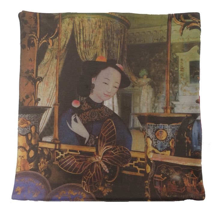 The cushion is digitally printed and shows part of the famous story The Nightingale by Hans Christian Andersen #nightingale #woman #hcandersen #cushion #pillow #decor #digitalprint #cushionsale #shop #handmade #buy #art #fairytale #homedesign #print #interiordesign #luxury #story #forbed
