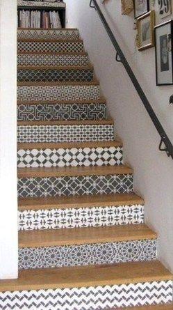 Les 25 meilleures id es de la cat gorie peinture sol garage sur pinterest p - Decorer son escalier ...