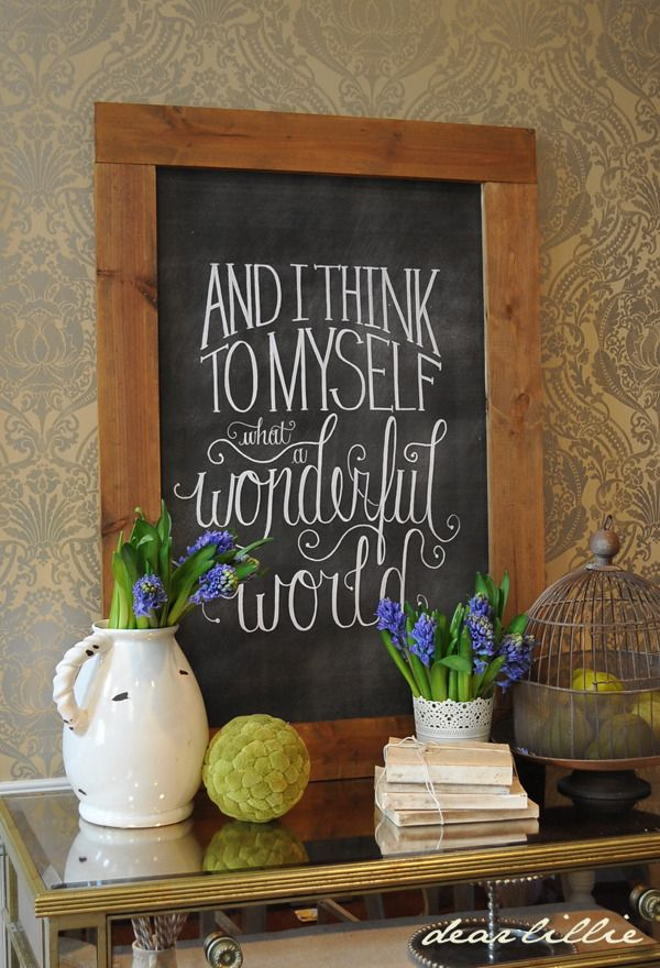 Image of I Think To Myself 24x36 Chalkboard Download. Would be awesome in picture collage.