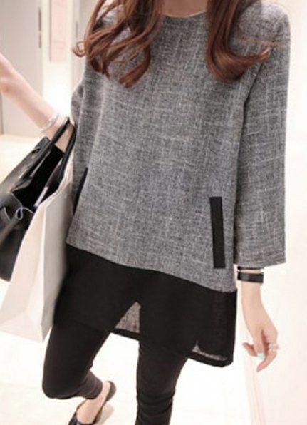 »Stylish Long Sleeve Scoop Neck Splicing #Dress« #fashion #fashionandaccessories #twinkledeals