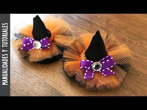 Tutorial, Broches de Sombrero de Brujas para el Cabello - Los290ss - YouTube