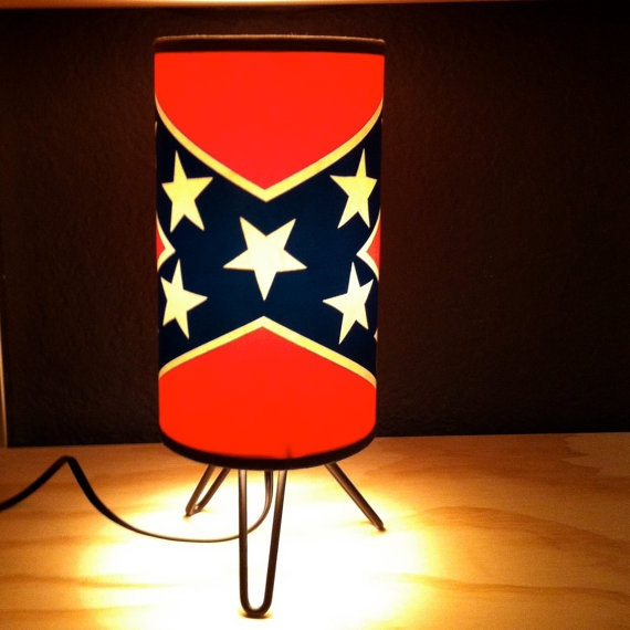 Rebel Flag Cocktail Lamp by moonbootprinting on Etsy, $125.00 ...