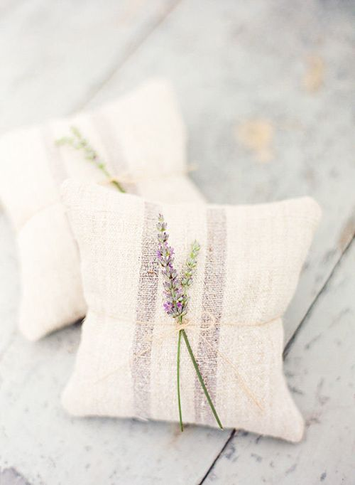 Let your guests carry flowers too!  Send them  home with sachets of dried lavender.  #lavender #weddingfavor