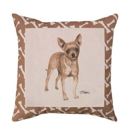 CHIHUAHUA DOG OUTDOOR PILLOW - http://weloveourpugs.net/chihuahua-dog-outdoor-pillow/