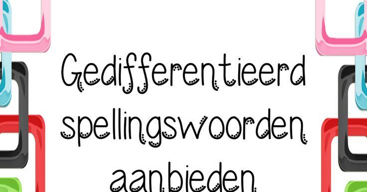 JUF-STUFF klaarwerk keuzemenu spelling. Op een leuke manier extra oefenen met spellingswoorden!