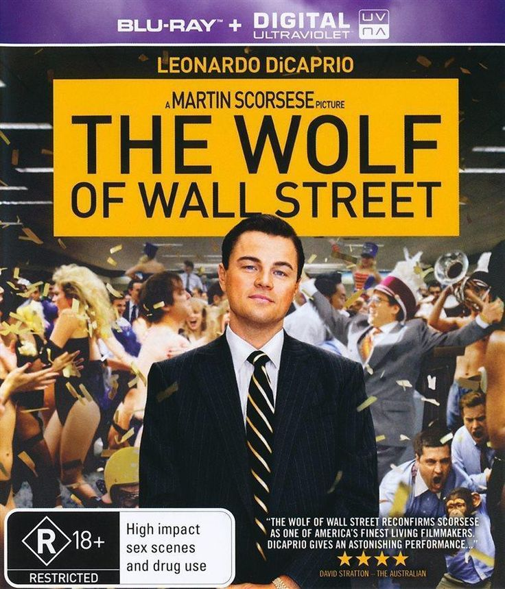 Discounted: The Wolf of Wall Street (Blu-Ray, 2014) As New - Leonardo DiCaprio, Margot Robbie #movies