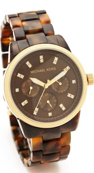Michael Kors tortoise shell watch http://rstyle.me/n/nd7khr9te