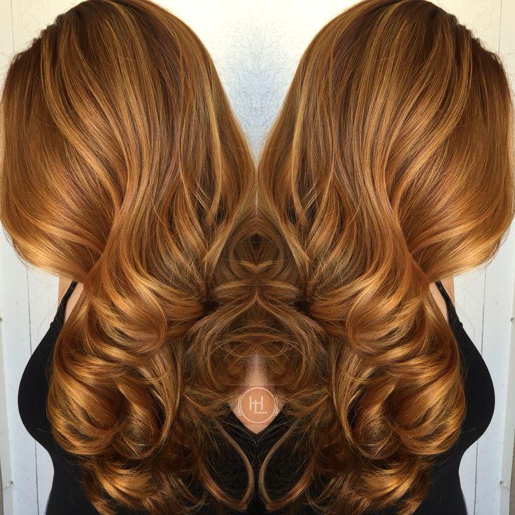 Golden copper blonde hair dye