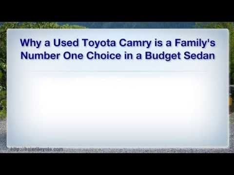 Used Toyota Camry http://baierltoyota.com/blog/2014/05/why-a-used-toyota-camry-is-a-familys-number-one-choice-in-a-budget-sedan.cfm  Baierl Toyota, specializing in new and used Toyota and Scion cars, trucks, hybrids and SUVs. Search for a new or used Toyota 4Runner, Avalon, Camry, Corolla, FJ Cruiser, Highlander, Land Cruiser, Matrix, Prius, RAV4, Sequoia, Sienna, Tacoma, Tundra, Venza, Yaris, and more.