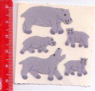 IPPOPOTAMO - HIPPOPOTAMUS  80s Sandylion Canada sticker adesive kawaii fuzzy