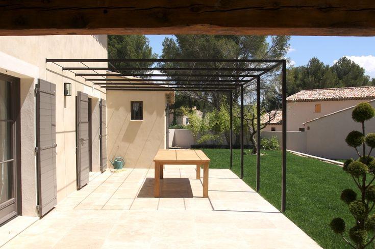 Les 25 meilleures id es de la cat gorie pergola fer sur pinterest pergola e - Pergola en fer a beton ...