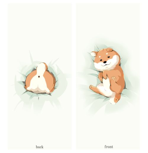 shiba cartoon..shiba's have the cutest butts!