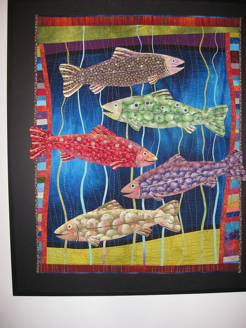 17 Best Images About Quilts Quilting Fish Ocean Sea On