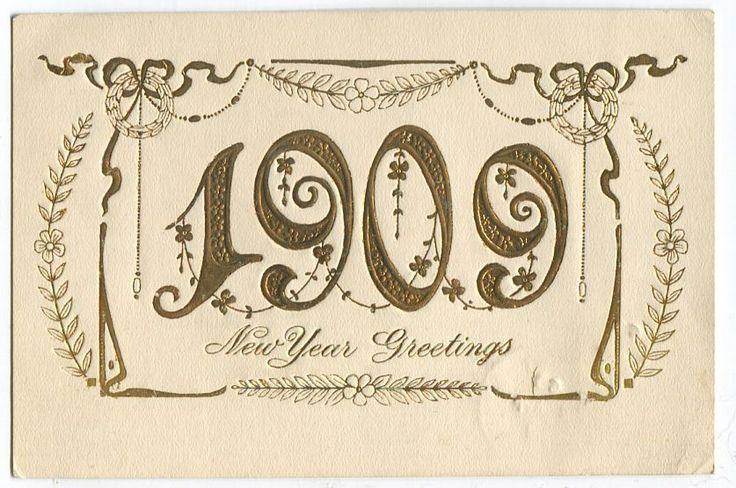 Canada #89 1c Green on Local  Gold & Cream Embossed New Year Postcard - VF-77 in Stamps, Canada, Used | eBay