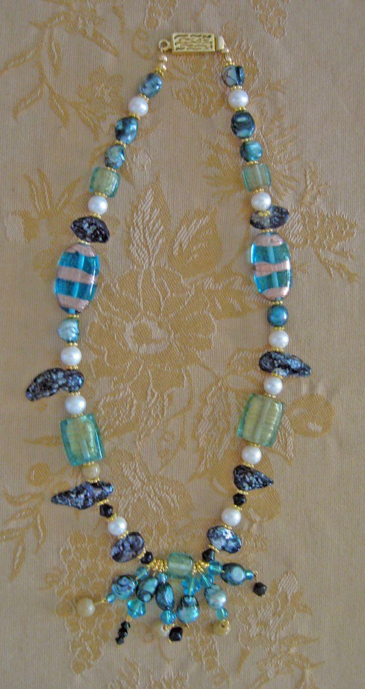 Blue Dangle Necklace