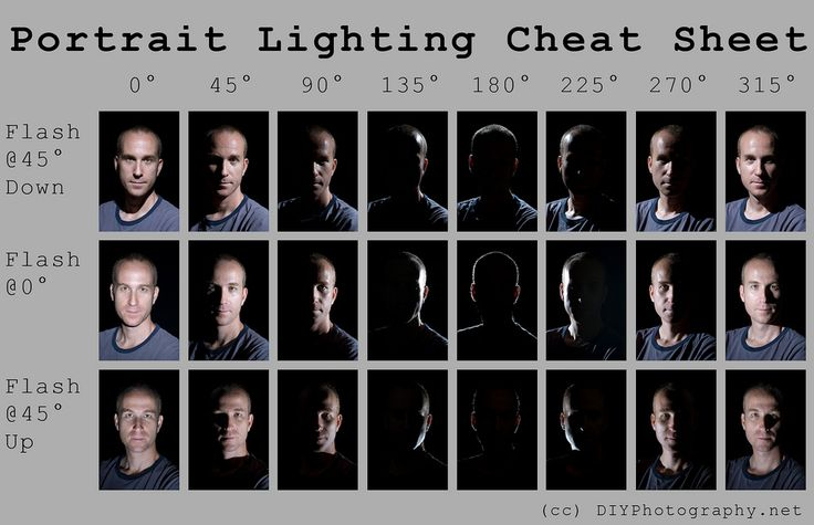 Portrait Lighting Cheat Sheet Card | Flickr - Photo Sharing!