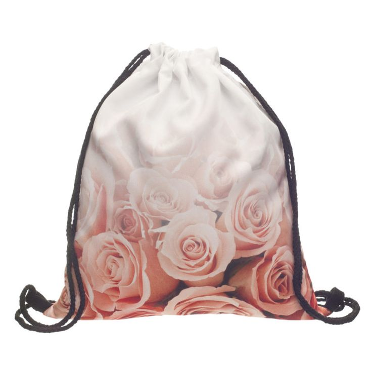 Ombre Roses Draw String Bag £8 // Free UK Delivery  https://www.teeisland.co.uk/shop/ombre-roses-draw-string-bag/