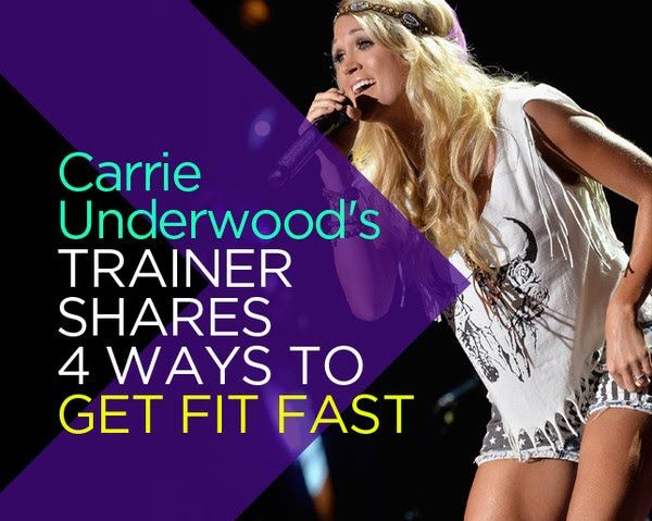 Carrie Underwood's Trainer Shares 4 Ways to Get Fit Fast  - Photo by: Shutterstock http://www.womenshealthmag.com/fitness/carrie-underwood-trainer-tips