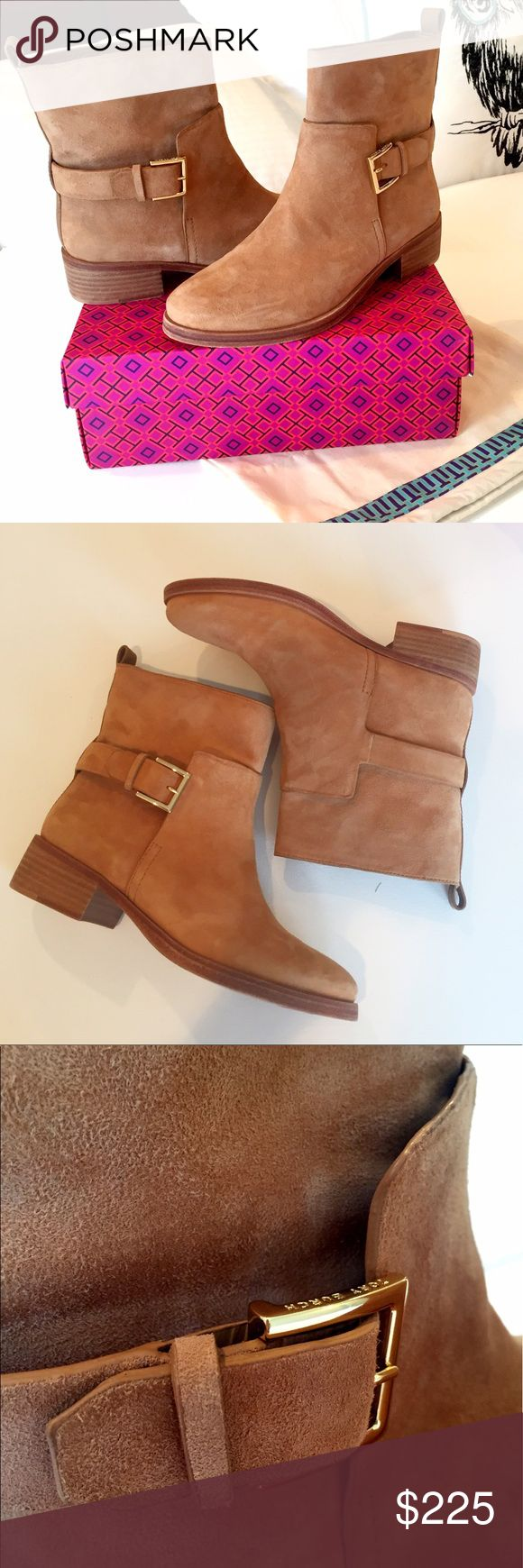 New in Box Tory Burch Booties Brand New Tory Burch Leather booties.  Size 8.5  Comes With Tory Burch Box and Tory Burch Dust bag. Leather Upper and Sole.  Made in Brazil.  Retails at $425 ($449.45 with taxes) Tory Burch Shoes Ankle Boots & Booties
