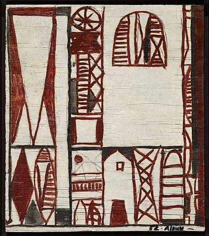 """Grafismo en rojo / Grafismo en Red "" de 1962 Julio Alpuy"