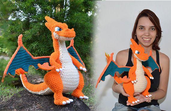 Crochet Pokemon: Charizard Pattern Review     370x570