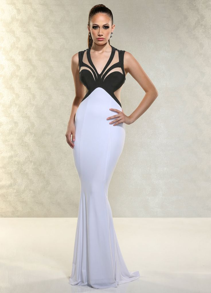 9 best Sleek Two Tone Black/White images on Pinterest | Prom dresses ...