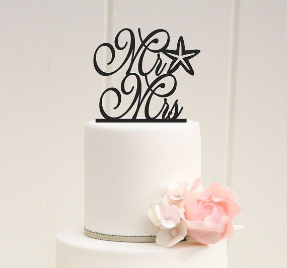 Hey, I found this really awesome Etsy listing at https://www.etsy.com/listing/175490305/wedding-cake-topper-mr-and-mrs-starfish
