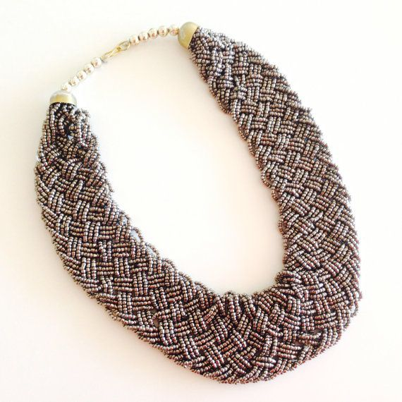 Choker necklace/bib necklace/mothers day/statement by sudarium, $22.00