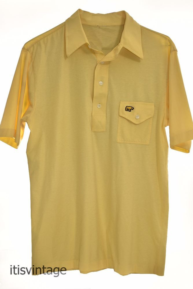 Vintage Jack Nicklaus Golden Bear 4 Button Placket Short Sleeve Polo Golf Shirt  | Clothing, Shoes & Accessories, Men's Clothing, Casual Shirts | eBay!