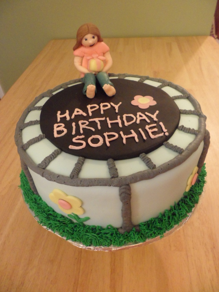 This was my sisters cake for her party:)-trampoline cake