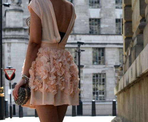 pretty in pink: Cocktails Dresses, Blushes Pink, Pink Dresses, Dresses Fashion, Backless Dresses, Bridesmaid Dresses, Style Inspiration, Street Style, The Dresses