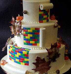 Lego Wedding Cake With Minifigs On Top Perfectly Awesome
