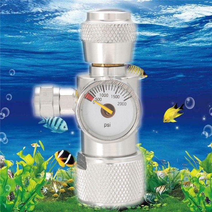 Pressure Gauge Up To 1500PSI Co2 Regulator Cylinder <font><b>Reducer</b></font> Valve Moss Plant Aquarium Single Manometer Measuring instruments
