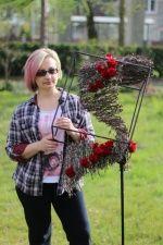 Duże obiekty i formy florystyczne, prowadzący: Elena Butko, fot. Paweł Stauffer