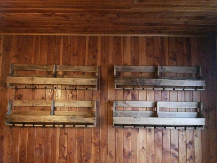 Porta vinos hechos con palets 100 reciclados porta for Articulos hechos con palets