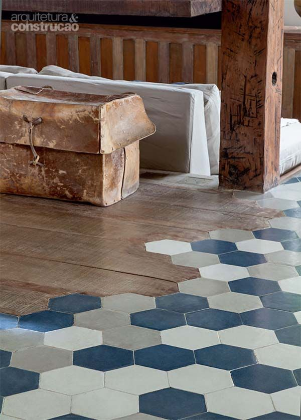 Enchanting Brazilian Home Blends Rustic And Modern Details Hexagon Tiles Floor Design Flooring