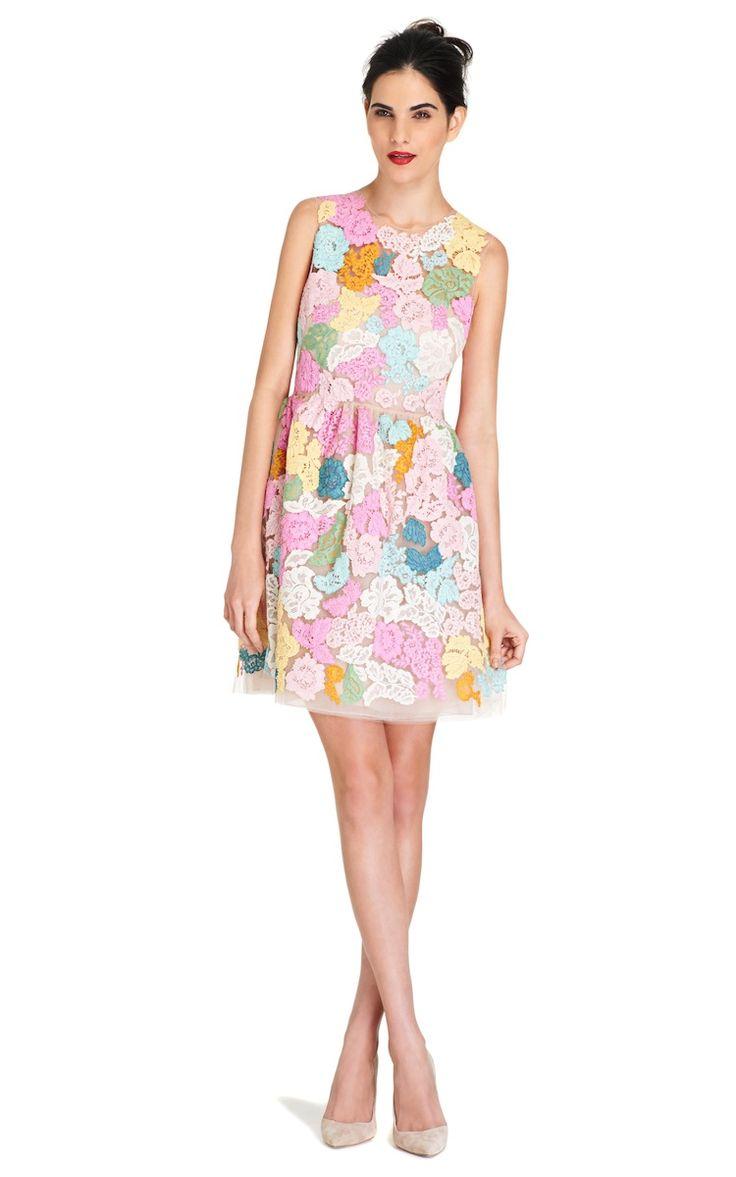 Multicolor Floralbrocade Dress (On Sale)