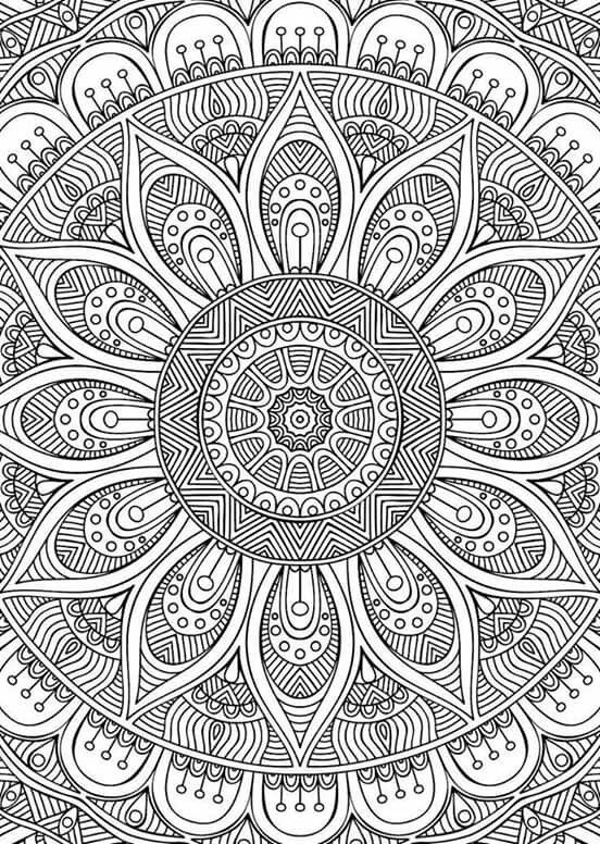 170 best Mandala images on Pinterest Coloring books Coloring